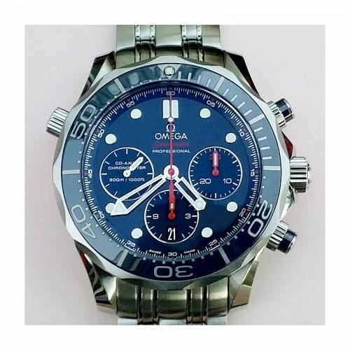 bc8cbd6c9 Omega Seamaster Diver 300M Chronograph 44mm Blue Ceramic – Sydney Watch  Exchange