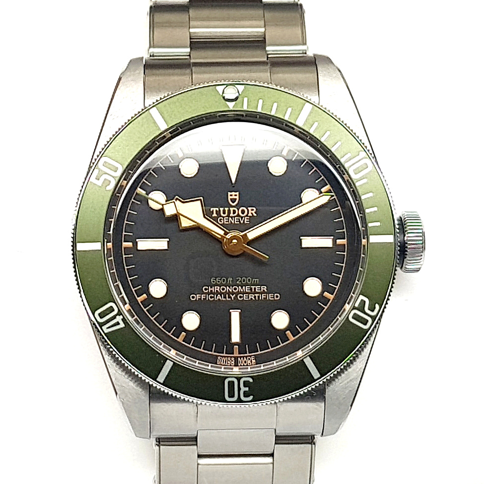 f22221d23d9 Tudor Heritage 41MM Black Bay Green Harrods Automatic Stainless ...