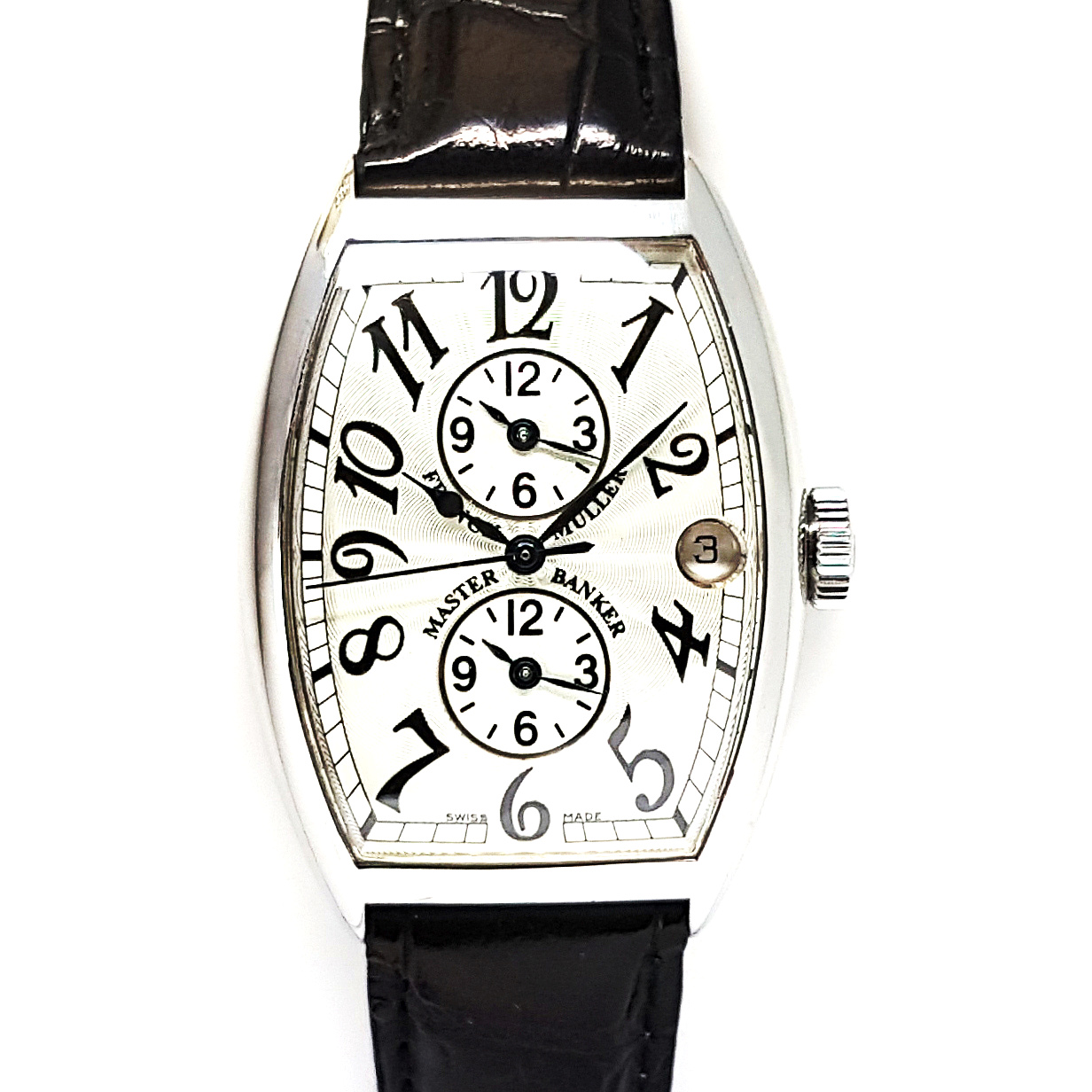 new arrival 806e8 eed7a Franck Muller Master Banker 5850MB Automatic 2 Dual Time Zones Silver Dial  'B&P'